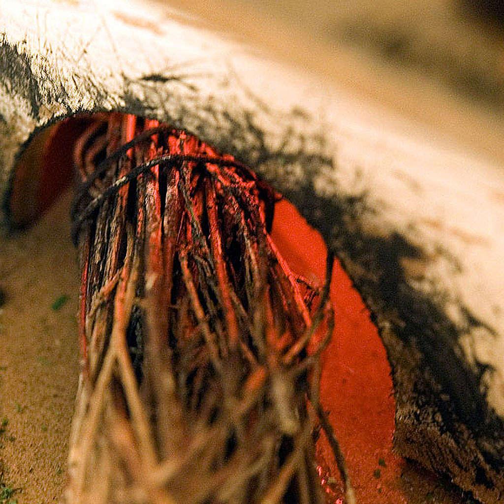Forno presepe effetto fuoco con pentole e sacco 20X14X16 4