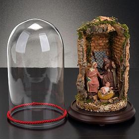 STOCK - Natività campana di vetro con ambientazione h 26 cm s4
