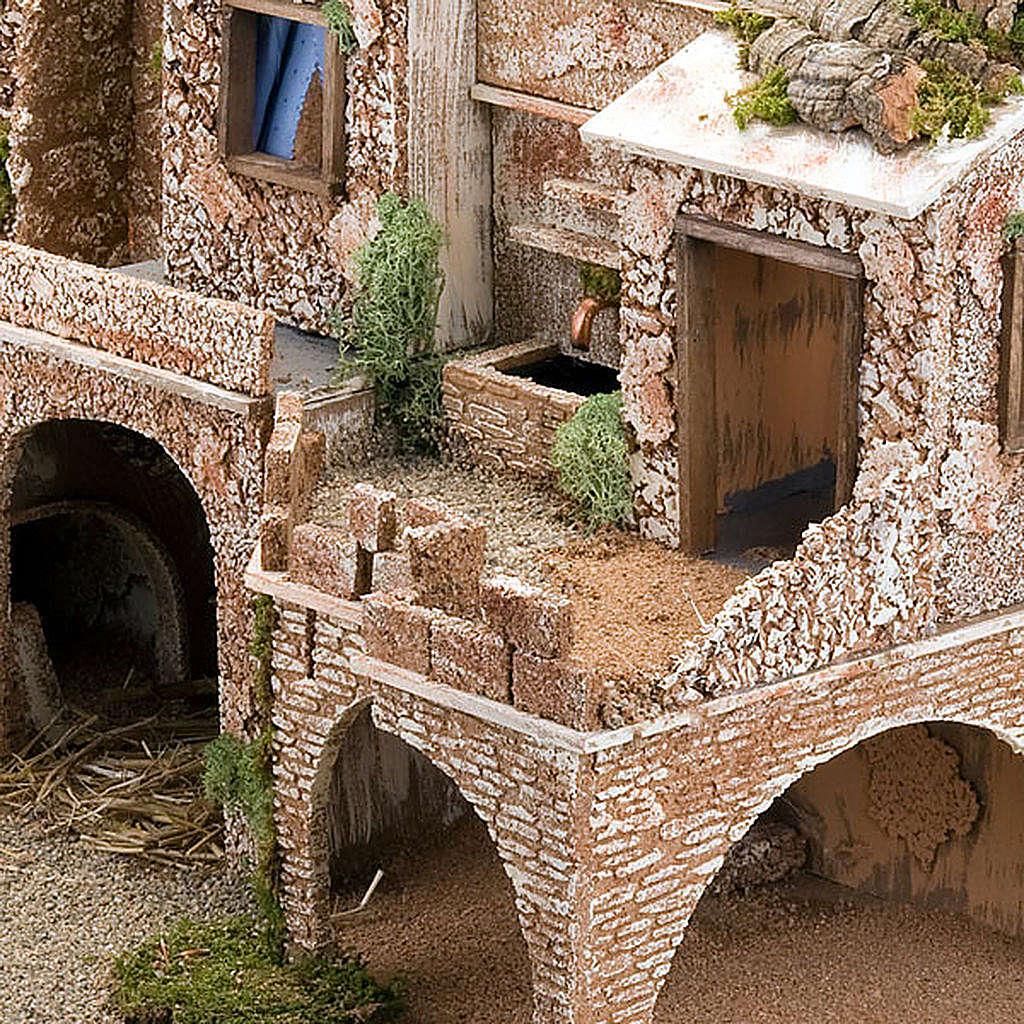 STOCK - Grotta presepio con fontana 70X50X37 4