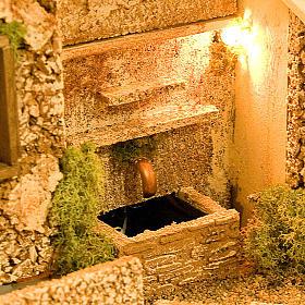 STOCK - Grotta presepio con fontana 70X50X37 s2