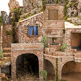 STOCK - Grotta presepio con fontana 70X50X37 s9