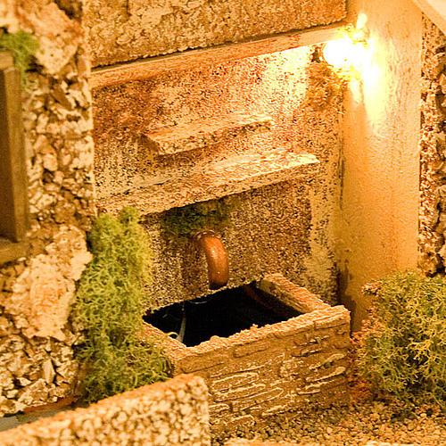 STOCK - Grotta presepio con fontana 70X50X37 2