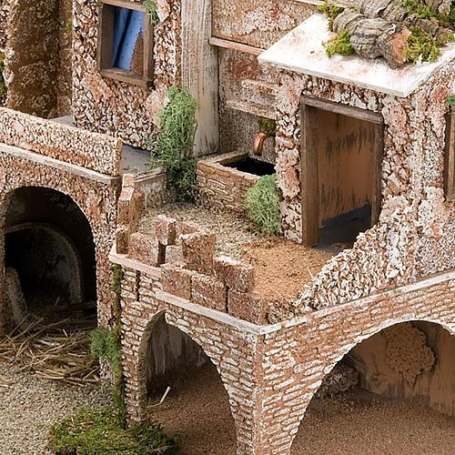 STOCK - Grotta presepio con fontana 70X50X37 5