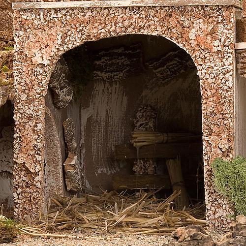 STOCK - Grotta presepio con fontana 70X50X37 6