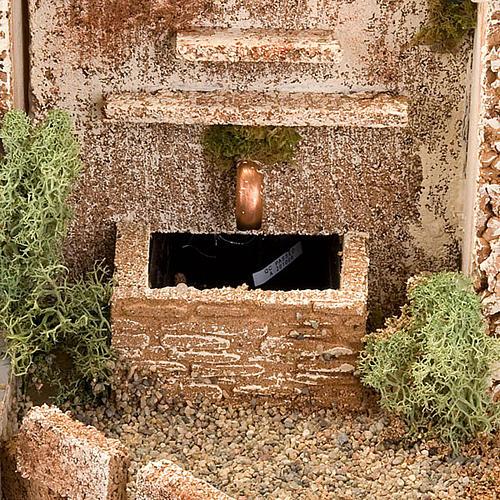 STOCK - Grotta presepio con fontana 70X50X37 8