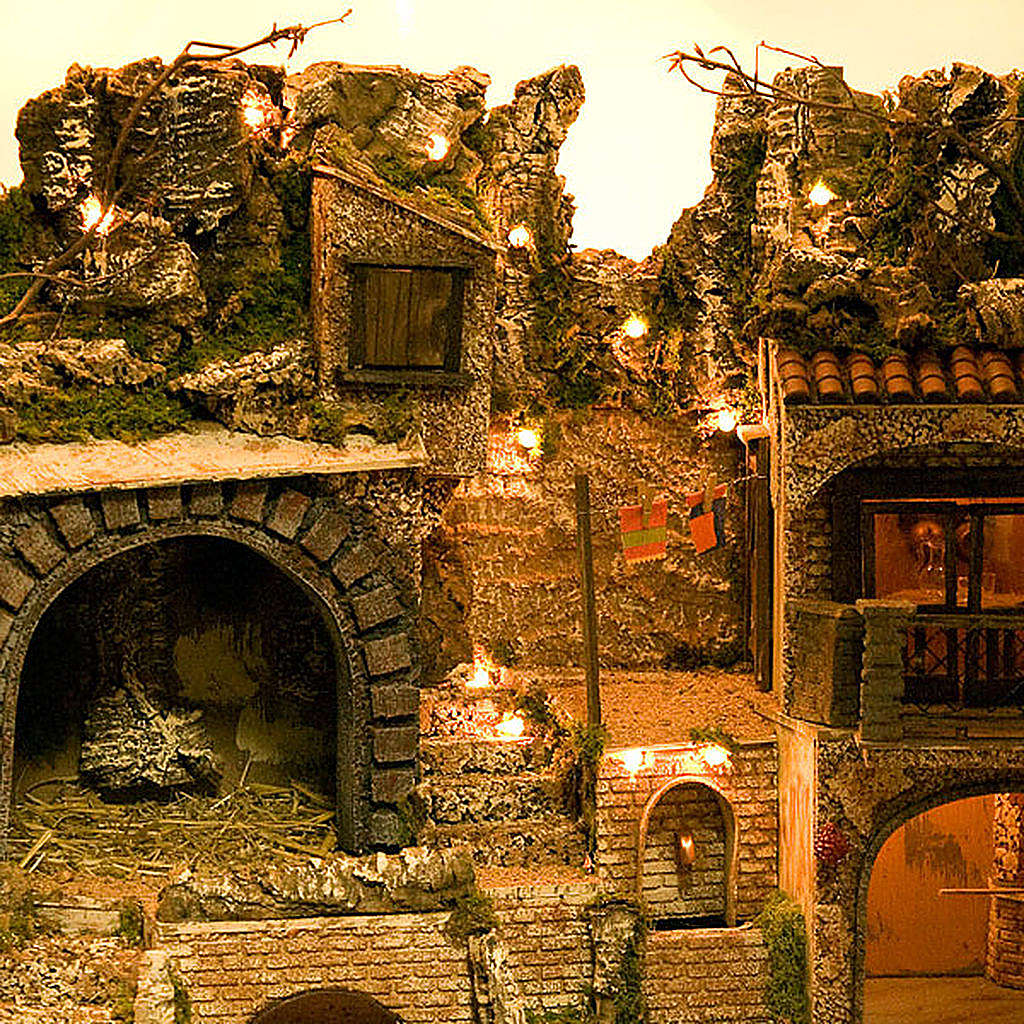 STOCK - Grotta presepi con fontana 80X70X60 4