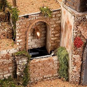 STOCK - Grotta presepi con fontana 80X70X60 s9