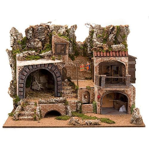 STOCK - Grotta presepi con fontana 80X70X60 1
