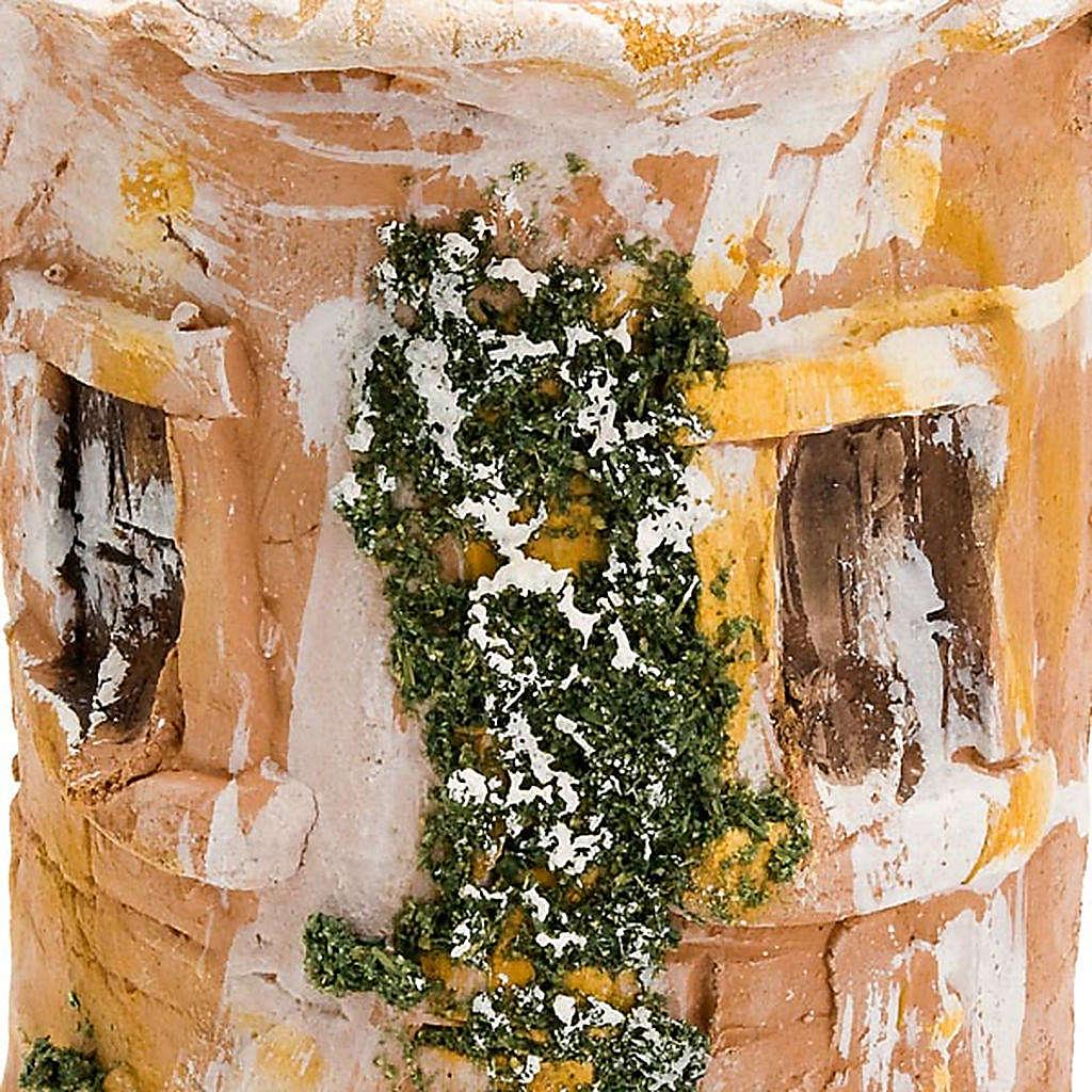 Coppo terracotta Natività bue e asinello 4