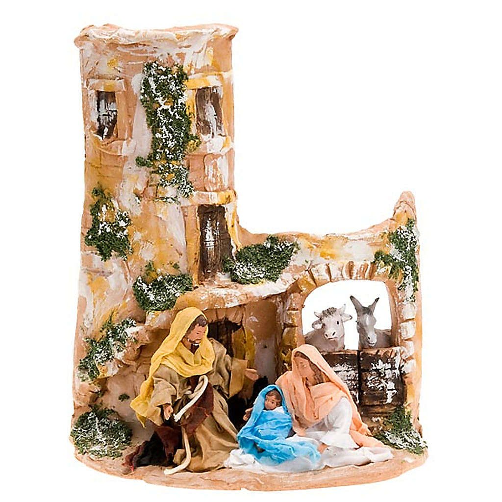 Nativity scene, Deruta, Holy family, ox and ass 4