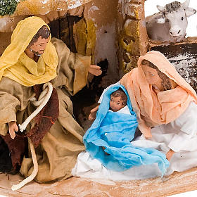 Nativity scene, Deruta, Holy family, ox and ass s4