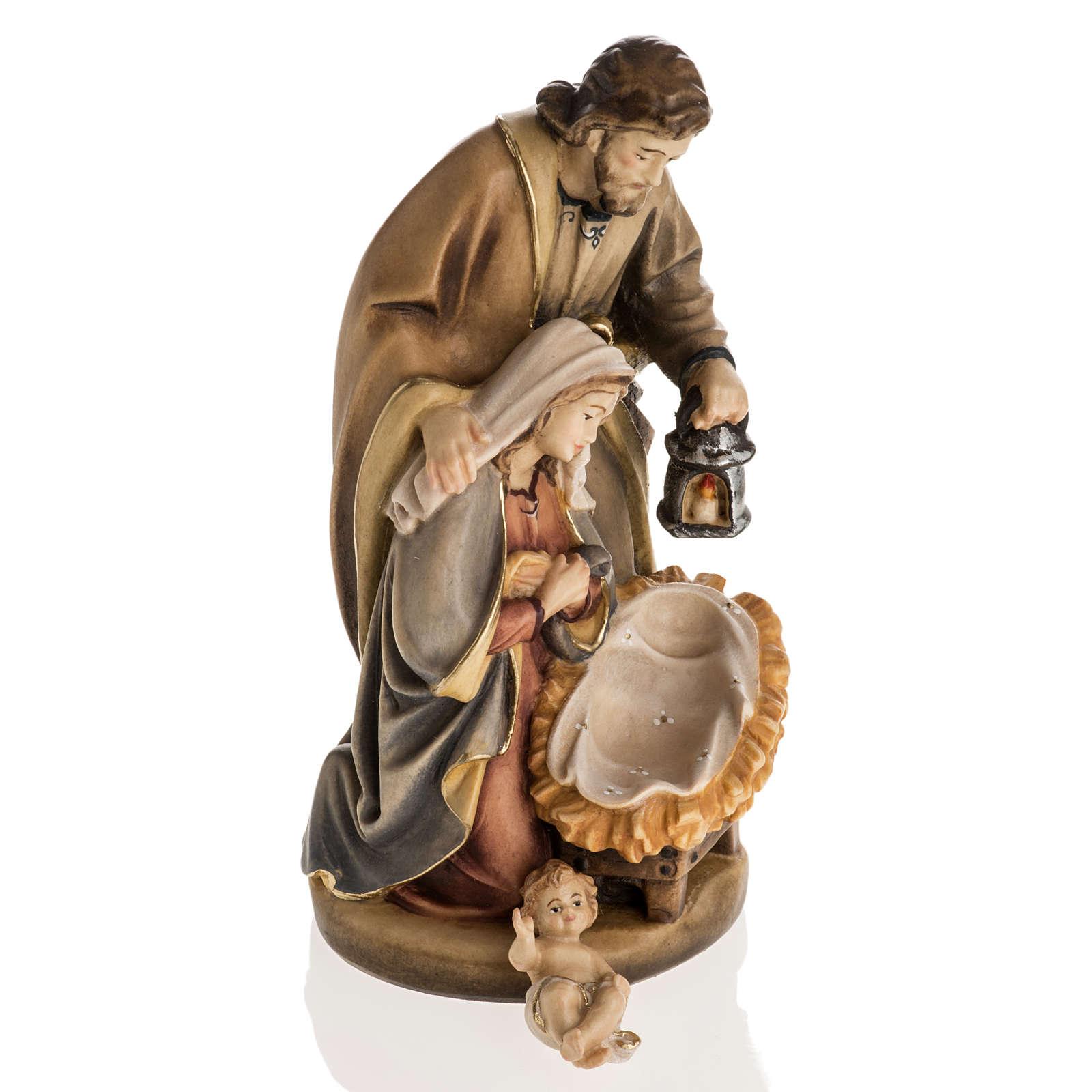 Nativité bois peinte mod. Sainte Nuit, Val Gardena 3