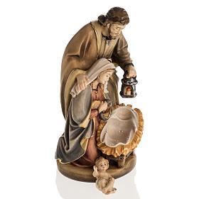 Nativité bois peinte mod. Sainte Nuit, Val Gardena s7