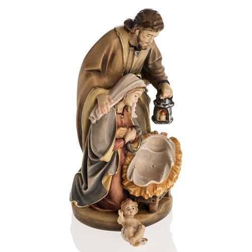 Święta Rodzina drewno malowane Val Gardena model Święta Noc 7