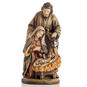 Natividade madeira pintada Val Gardena mod. Noite Santa s1