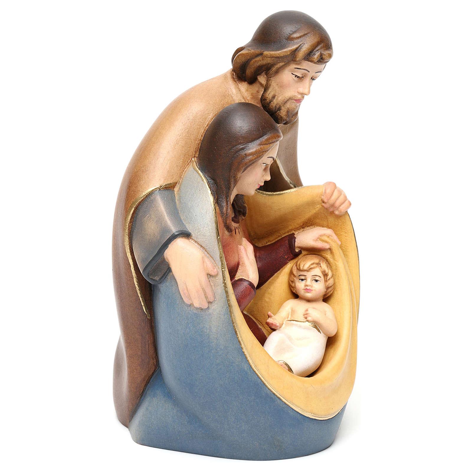 Natividad de la paz madera pintada Val Gardena 3