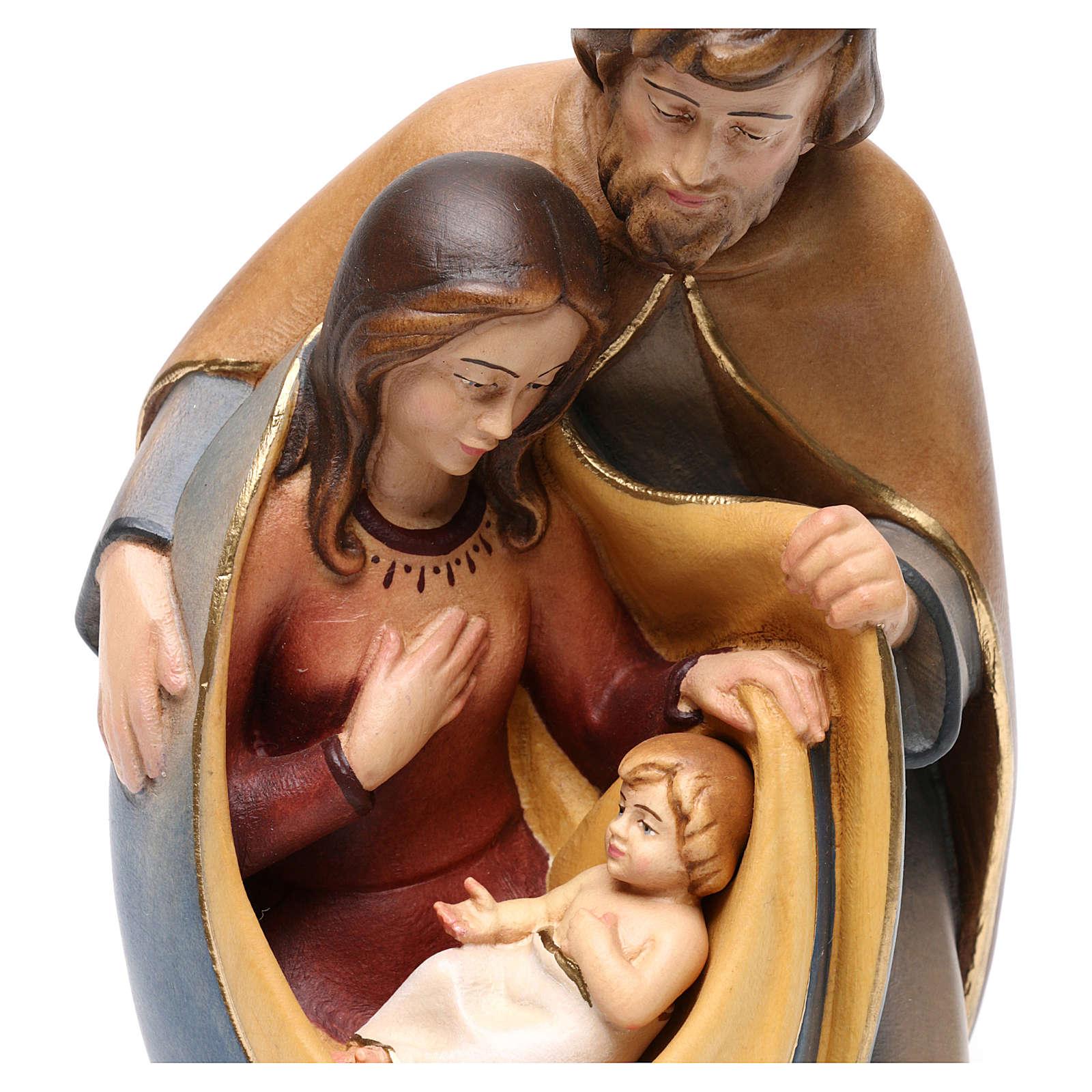 Święta Rodzina drewno malowane Val Gardena model Pokój 3