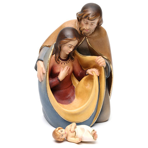 Natividade da paz madeira pintada do Val Gardena 5