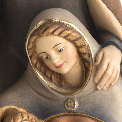 Natividad de madera pintada a mano Val Gardena 3
