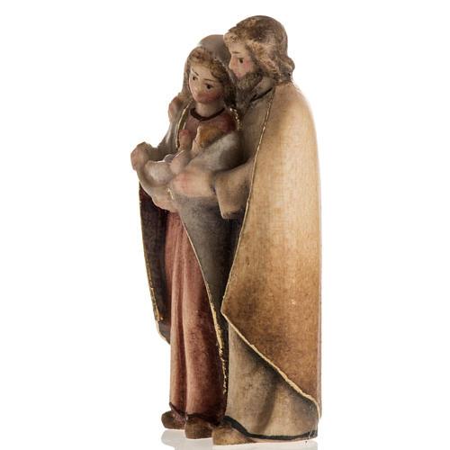 Natività in piedi legno dipinto Val Gardena 3