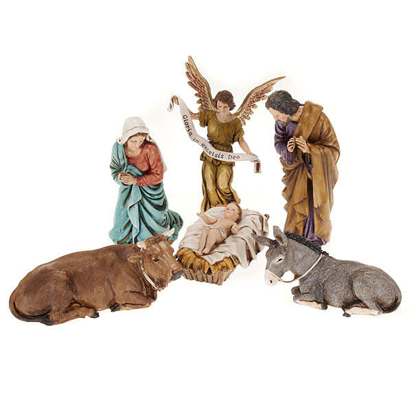 Nativity set, Holy family Moranduzzo, 13 cm 3