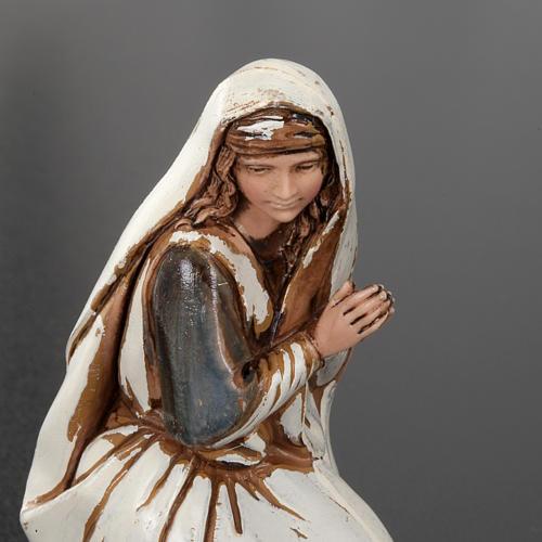 Natività Moranduzzo angelo asino e bue plastica 10 cm 3