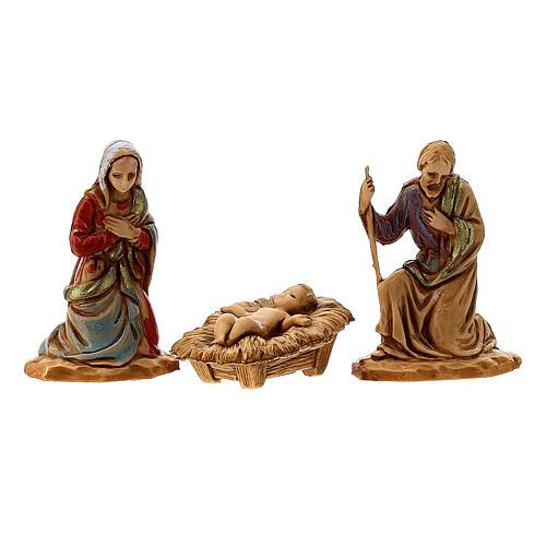 Nativity set, Holy family Moranduzzo 3.5 cm 2