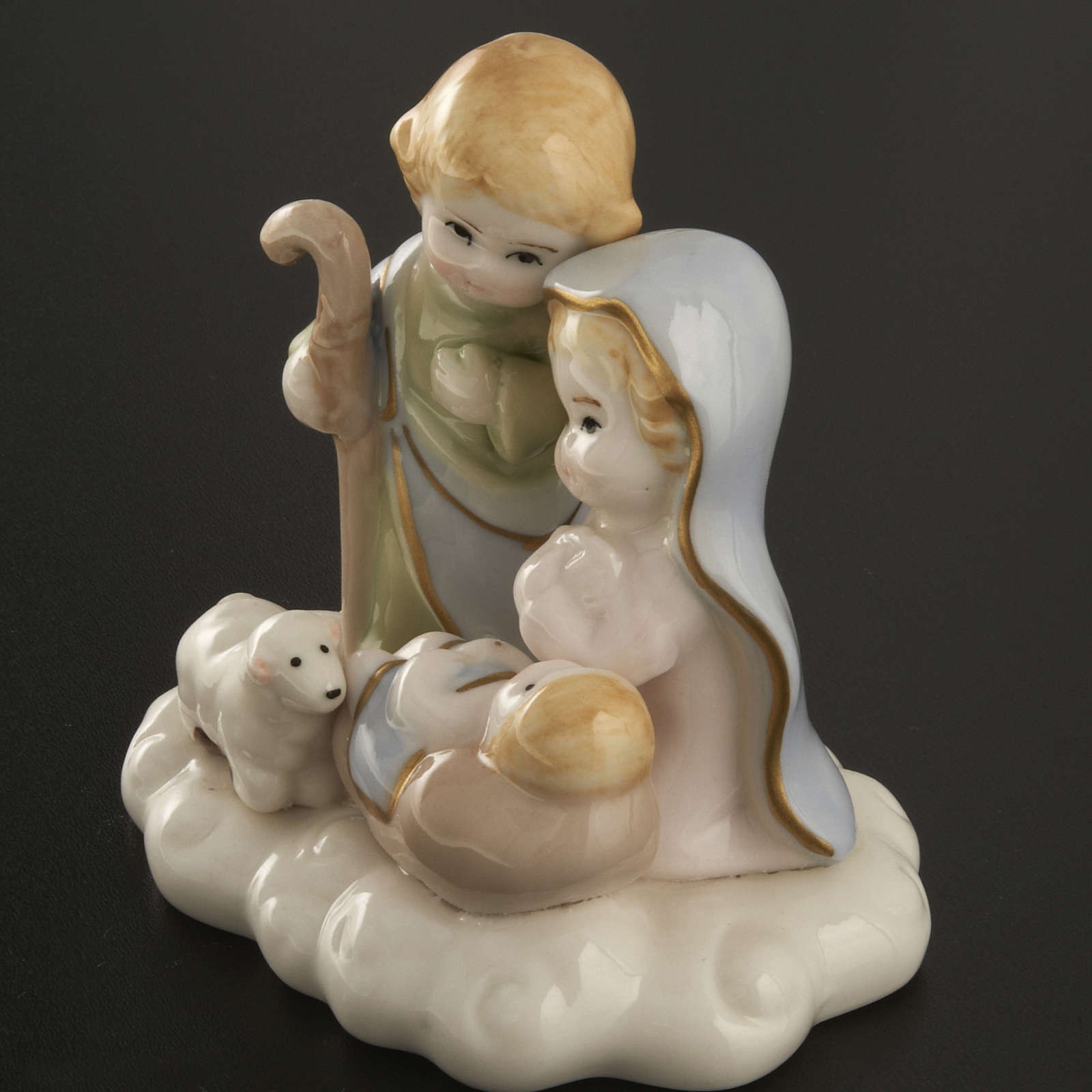 Nativité stylisée céramique 10 cm 3