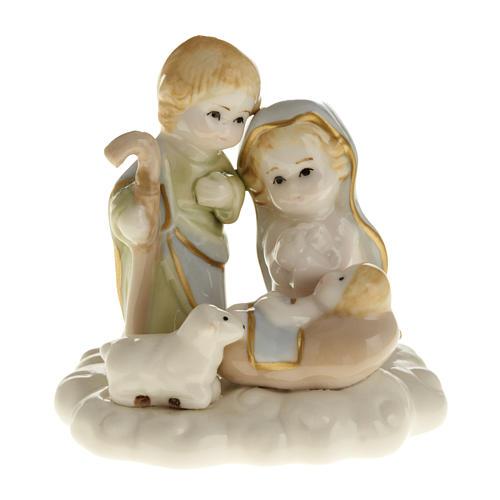 Nativité stylisée céramique 10 cm 1