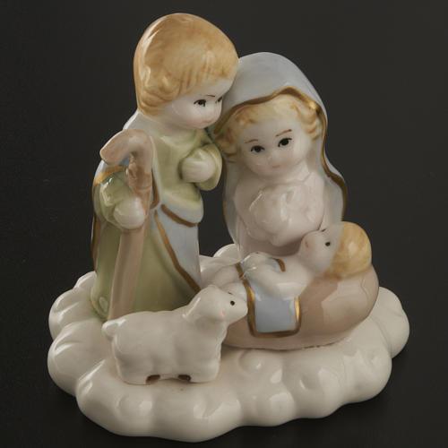 Nativité stylisée céramique 10 cm 2