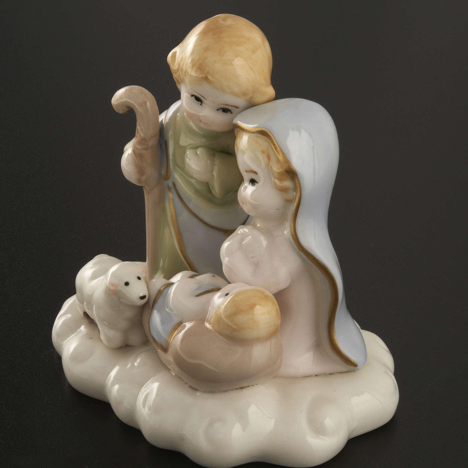 Natività ceramica 10 cm 3