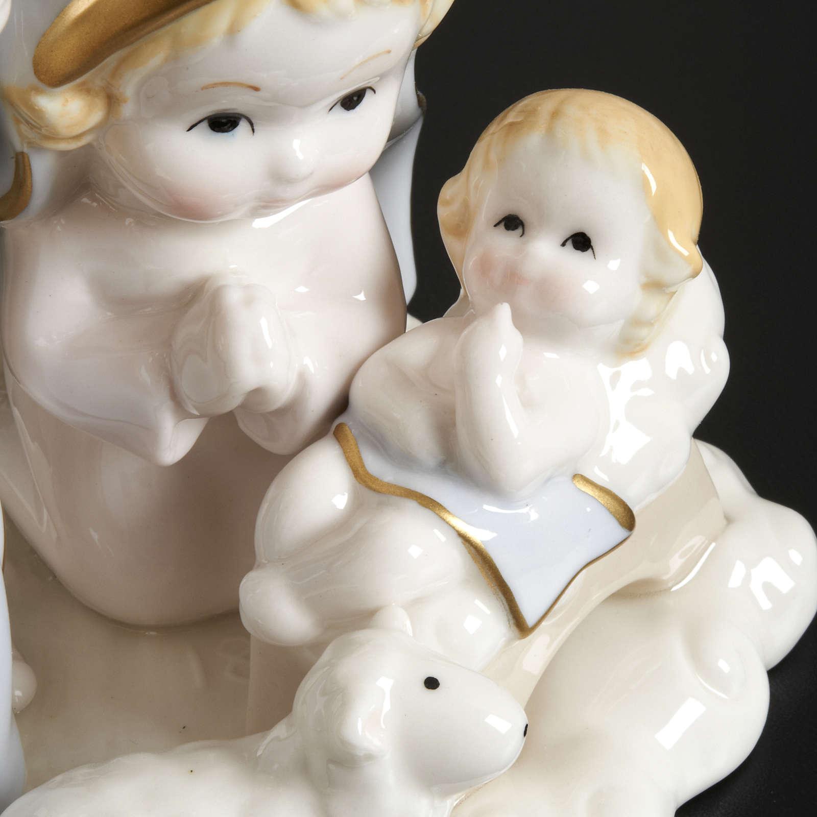 Nativité stylisée céramique 14 cm 3