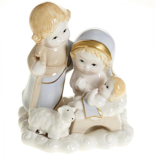 Nativité stylisée céramique 14 cm 1