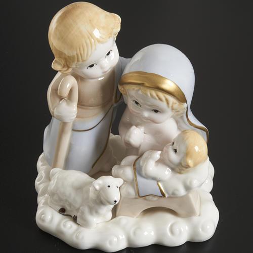 Nativité stylisée céramique 14 cm 2