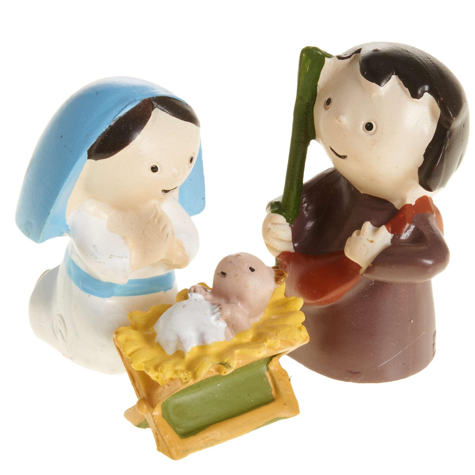 Nativité résine 3 pcs cm 4,5 3
