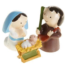 Nativité résine 3 pcs cm 4,5 s1