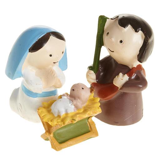 Nativité résine 3 pcs cm 4,5 1
