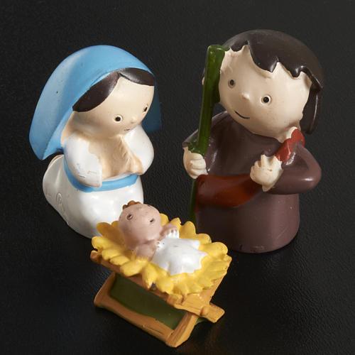 Nativité résine 3 pcs cm 4,5 2