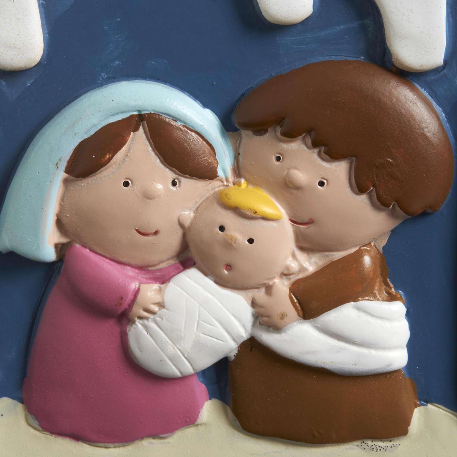 Natividad vela de resina pintada 3