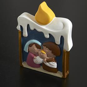 Natividad vela de resina pintada s2