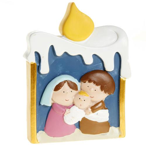 Natividad vela de resina pintada 1