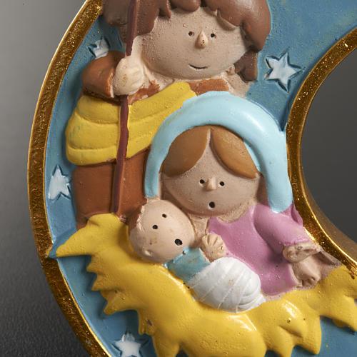 Natividad luna resina pintada 3