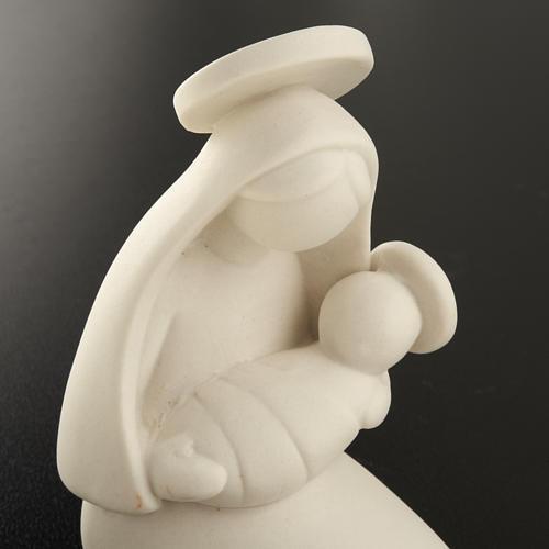 Vierge Marie stylisée et enfant céramique 10 cm 3
