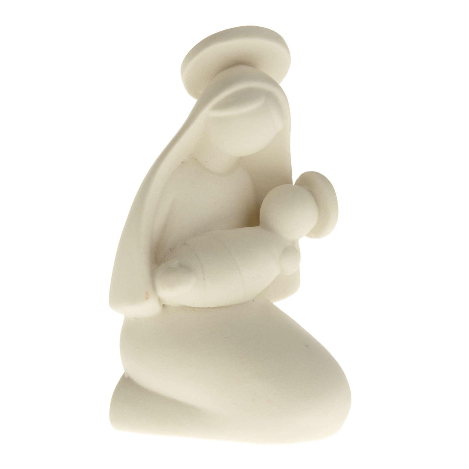 Matka Boża stylizowana z Dzieciątkiem ceramika 10 cm 3