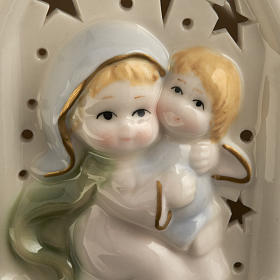 Virgen con niño cerámica s3