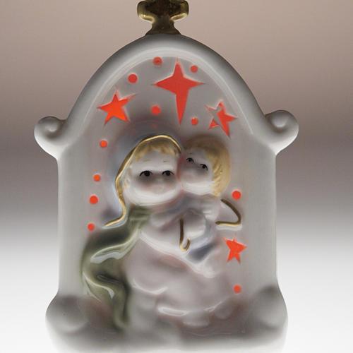Virgen con niño cerámica 5