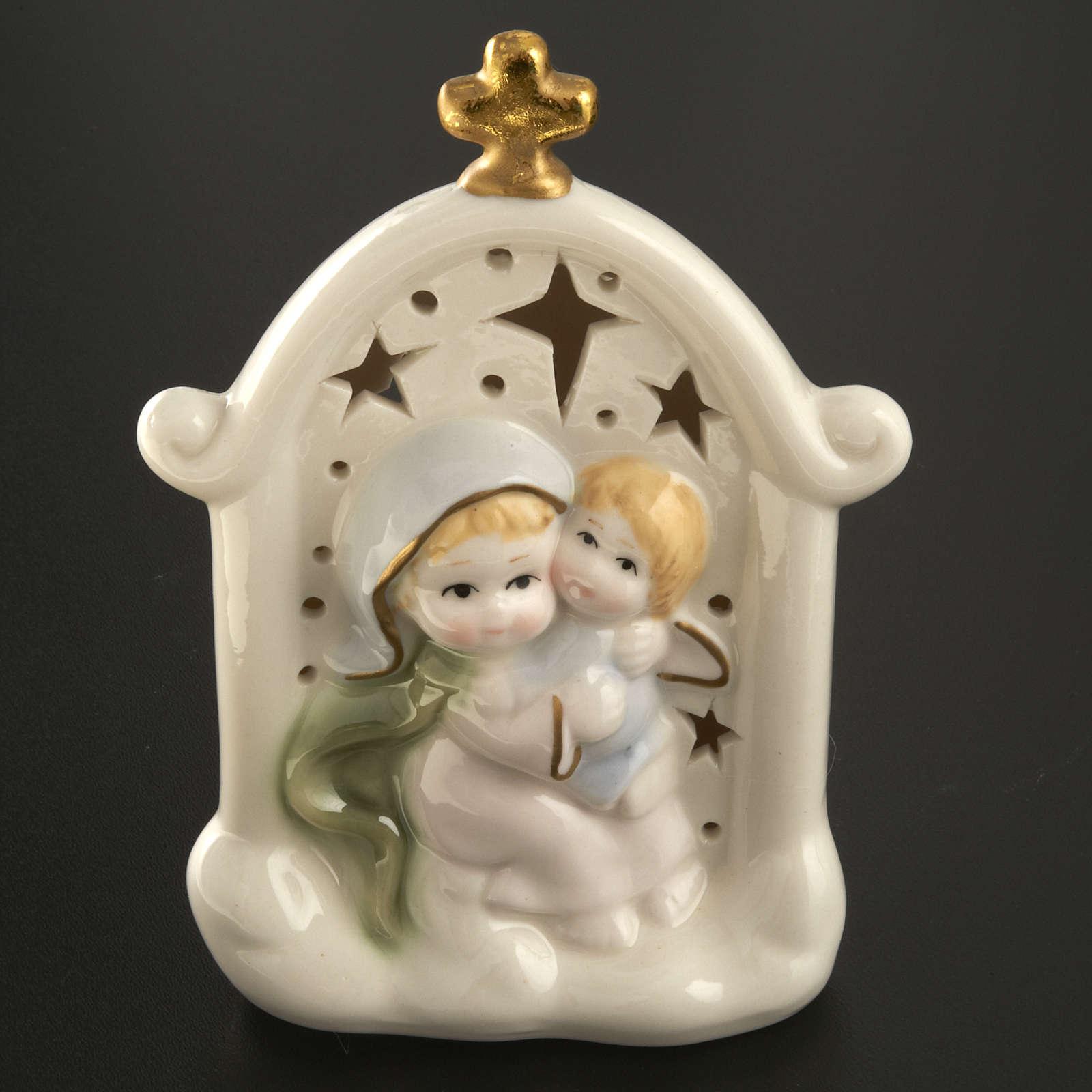 Vierge et enfant Jésus cadre céramique 3