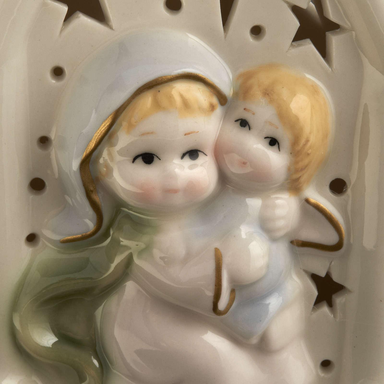 Madonna con bimbo quadretto ceramica 3