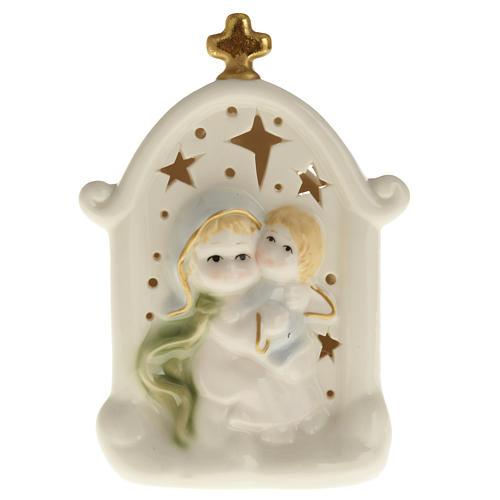 Madonna con bimbo quadretto ceramica 1
