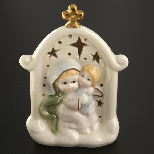 Madonna con bimbo quadretto ceramica 2